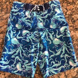 Like New!  Boys swim trunks by Gymboree! 7/8